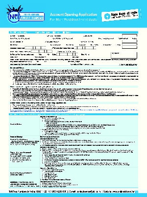 SBI Individuals Opening Form For NRO/NRE Account